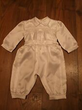 Sarah Louise Baby Boys White Christening Smocked Outfit 3-6 Months Summer Winter
