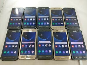 LOT of 10 Samsung Galaxy S7 Active G891A GSM Unlocked Smartphone Assorted  #A066