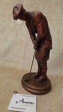 "Austin Sculpture Golfer ""Hampton Green"" by Alexsander Danel Bronze Finish"