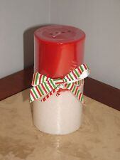 NWT PIER  1 PEPPERMINT CREME CHRISTMAS HOLIDAY PILLAR CANDLE