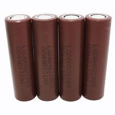 4X 18650 3000mAh 3.7v Li-ion HG2 INR Batería Recargable Battery High Drain -Vape