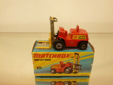 MATCHBOX SUPERFAST 15 FORK LIFT TRUCK - RED - VERY GOOD CONDITION IN BOX