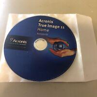 Acronis True Image 11 Home Windows Vista SP1 Compatible Data Backup Imaging Disc