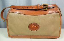 Dooney Bourke All Weather Bag Purse Vintage Classic Shoulder Crossbody Tan/Brown