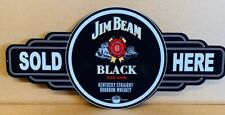 NEW Jim Beam Black Service Station tin metal sign