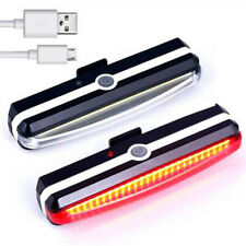 USB Rechargeable LED Mountain Bike Cycle Front Rear Tail Light Set Waterproof UK