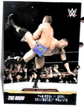 WWE -  THE ROCK   WRESTLEMANIA MATCHES  -  INSERT CARD  - #5 OF 8