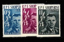 ALBANIA Sc 604-6 NH ISSUE OF 1962 - GAGARIN - SPACE