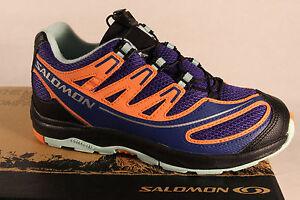 Salomon Xa Pro Trainers Lace-Up Blue / orange366692 New
