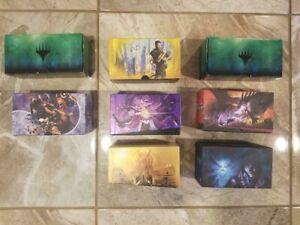 MTG Empty Fat Pack/ Bundle Box Assortment LOT of 8 Magic the Gathering Card Box