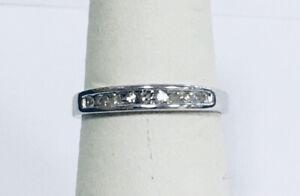 Estate Jewelry 10Kt White Gold Natural Diamond Wedding Band Ring 3.25mm Sz7