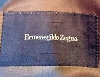 ERMENEGILDO ZEGNA Brown Plaid Check Wool Blazer Sport Coat Jacket 56L