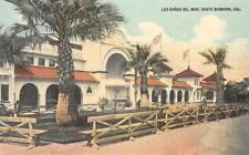 LOS BANOS DEL MAR Santa Barbara, California Bath House ca 1910s Vintage Postcard