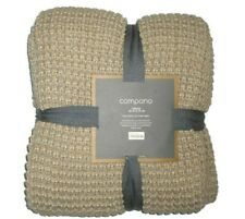 "J Crew Home beige Compono knit throw Blanket  50"" x 70"""