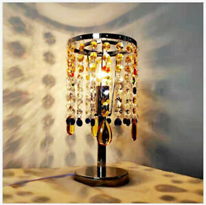 Creative Colored Crystal Table Lamp Bedroom Lights Desk Table Light Fixtures