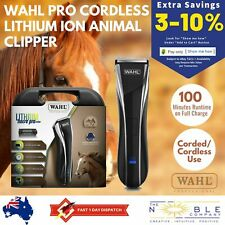 Wahl Horse Pro Cordless Clipper Equine Grooming Clippers Rechargeable Li-Ion