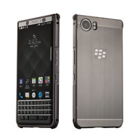 Metal Aluminum bumper Frame Brushed back Case Cover For Blackberry KEYone KEY2