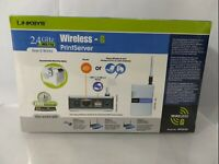 Linksys WPS54G Wireless-G Print Server New Sealed ******FREE SHIPPING*******