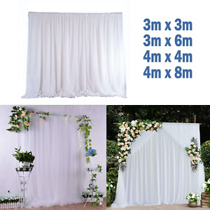 Backdrop Curtains Ice Silk Fabric Drapes For Wedding Birthday Photography Stage