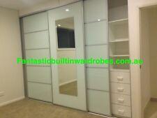 B/N Fully Installed Custom Built-in Wardrobe 3 Sliding Doors + Interior