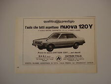 advertising Pubblicità 1979 DATSUN 120 Y