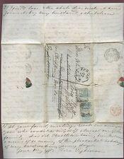 ITALY 1867 COVER+LTR WHITMORE JONES CHASTLETON REDIRECT