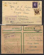PALESTINE-UK 1940 TWO FIELD POST OFFICE #121 COVER JERUSALEM TO BERKSHIRE BOTH