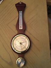 New listing Mid-Century Banjo-Style Airguide Mahogany Weather Station Barometer Hygrometer