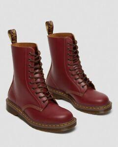 Genuine Dr. Martens Original Adult's Vintage 1490 Oxblood High Boots, Size 8UK