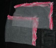 Hand crochet net food cover set of 2 weighted