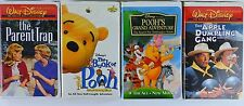4 Disney VHS - The Book of Pooh, Pooh's Great Adventures, Apple Dumpling Gang...