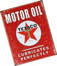 Texaco Motor Oil Lubricates Perfectly Distressed Retro Vintage Tin Sign Tsn1444