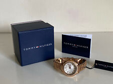 NEW! TOMMY HILFIGER CALLIE ROSE GOLD STAINLESS STEEL WATCH 1781468 $145 SALE