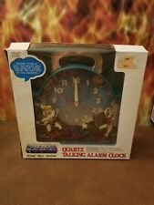 1983 MOTU CLOCK W/BOX. HE-MAN, SKELETOR, SHE-RA 🔥🔥🔥