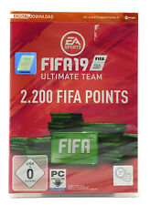 Fifa 19 Ultimate Team nuevo & OVP 2.200 FIFA Points PC contenido adicional Pack descarga