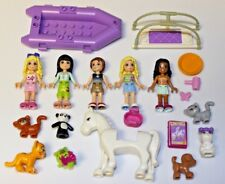 Lego FRIENDS - Minifigures, Animals, Accessories Lot - Horse Cat Dog Boat
