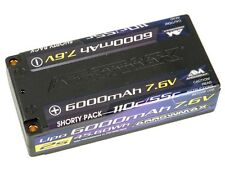 Arrowmax HV-LiPo 7.6V Hardcase 2S 110/55C Shorty # 6000mAh AM700203 Li-Po