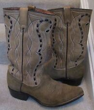 Texas Buck by Texas Boot Co. Size 9 Leather & Suede Cowboy Boots 8555X