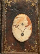 Cameo With DiAmond Beautiful Large Shell
