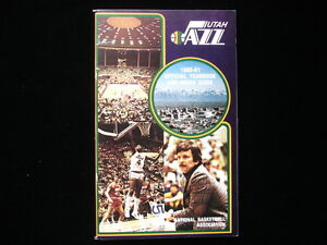 1980-81 Utah Jazz NBA Basketball Yearbook
