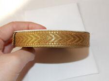 15 mm Or & Bronze jacquard brodé ruban Applique Trim