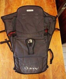 Quinny Speedi SX Seat Unit Fabric Dark Grey Denim and Red