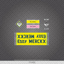 01142 Eddy Merckx Bicycle Stickers - Decals - Transfers