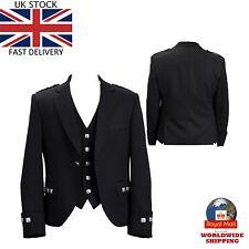 UK Stock New Handmade Scottish Argyle kilt Jacket & Waistcoat Wedding Dress