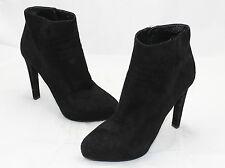 $950 PRADA Black Suede Camoscio Concealed Platform Ankle Booties Zip 10US (O45)