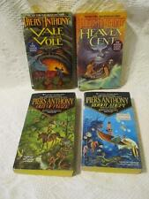 Lot 4 Piers Anthony Adept Xanth Series Robot Out of Phaze Heaven Cent Vale Vole