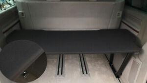 VW T5 & T6 Multivan Multiflexboard Bettverlängerung Ablage H :53cm Uni Schwarz 2