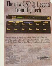 vintage magazine advert 1992 DIGITECH gsp21