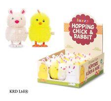 Kids Clockwork Wind Up Hopping Bunny Rabbit Chick Toy Child Party Bag Fillers UK