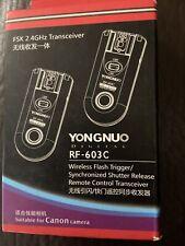 Yongnuo RF-603 C Wireless Remote Flash Trigger for Canon  Open Box